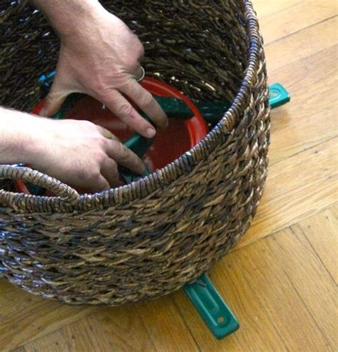 christmas tree basket stand holidays pinterest