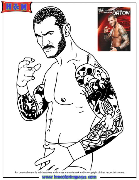 Wwe Coloring Pages Of Undertaker Randy Orton Coloring Pages