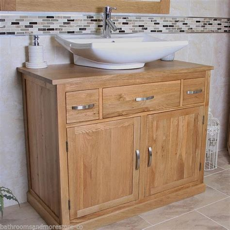 Vanity Sink Units For Bathrooms by Bathroom Vanity Unit Oak Sink Cabinet Wash Basin Tap