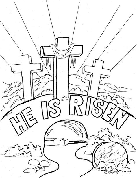 printable coloring pages of jesus resurrection empty tomb coloring page az coloring pages
