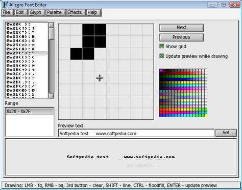 font editor allegro font editor download