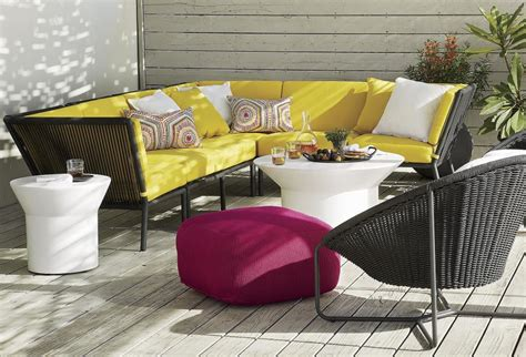 Yellow Patio Furniture Impressive Decoration Plant Beside Yellow Outdoor Patio Furniture Cushions Wooden Flooring