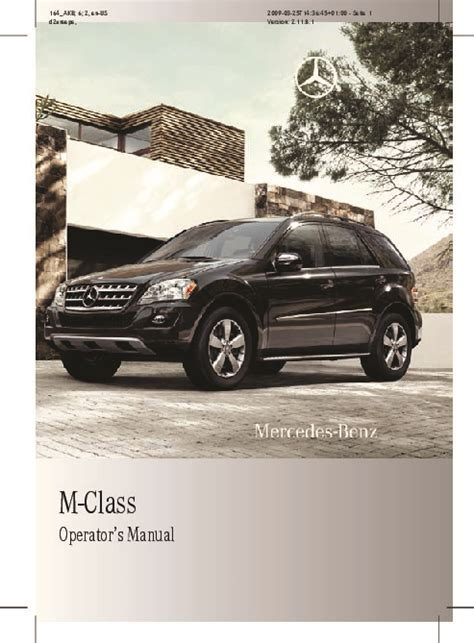 car engine repair manual 2010 mercedes benz s class instrument cluster 2010 mercedes benz μl350 4matic μl350 bluetec μl550 ml550 ml63 amg w164 owners manual