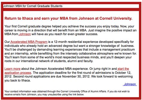 Mba After Biglaw by Cornell Mba Ad Jpeg Above The