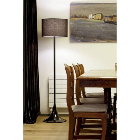 faro black floor lamp  black shade