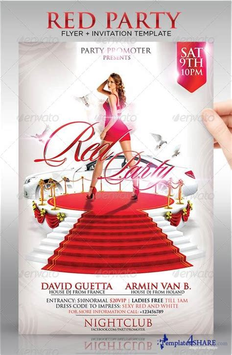 flyer template red graphicriver red party flyer template 187 templates4share