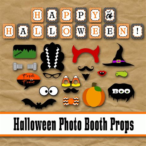 halloween photo booth props printable pdf halloween photo booth props and decorations by oldmarket
