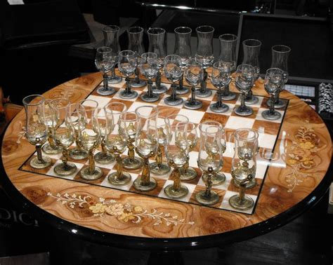 fancy chess set fancy shotglass chess set
