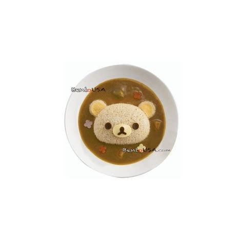 Rilakkuma Rice Set 30 bento rice mold and cutter set for curry rilakkuma