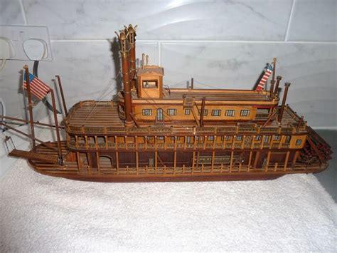 barco de vapor informacion maqueta de madera de un barco de vapor de palas de