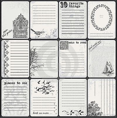 scrapbook journaling templates vintage feel printables graphics