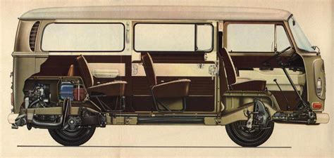 volkswagen transporter  cutaway drawing  high quality