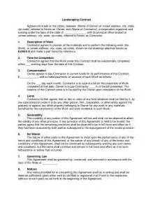 Landscaping Contract by Best Photos Of Printable Landscaping Contracts Landscaping Contract Templates Free Printable