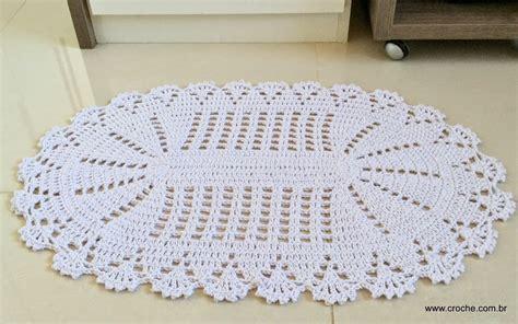tapetes coloridos de croche jogos e amostra decoracao tapete oval em croch 234 com aplica 231 227 o de flores passo a