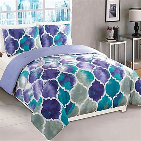 M S Bedding Sets Emmi Comforter Set In Purple Teal Buybuy Baby