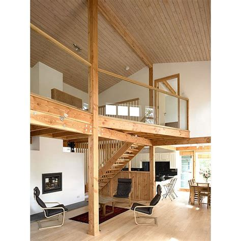 house design with mezzanine in living area completed internal view of the double height and open plan living area with kitchen