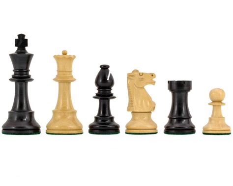Chess Sets by Conquest Series Ebonised Chess Pieces 3 75 Inches The