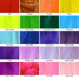 hair dye color chart kanekalon silky straight color chart unnatural colors hair color crazy pinterest