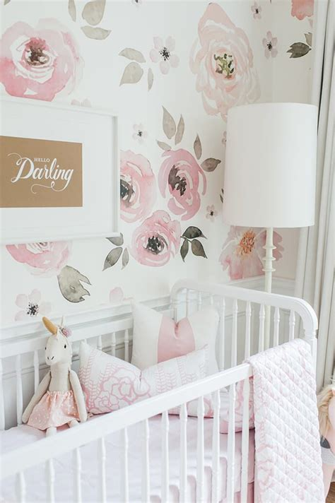 rose themed baby room touring monika hibbs s oh so sweet blush pink nursery