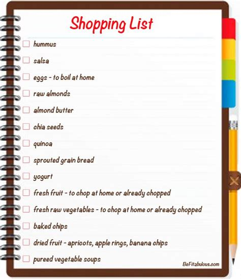 printable version of starter checklist healthy grocery list starter nutrition recipes