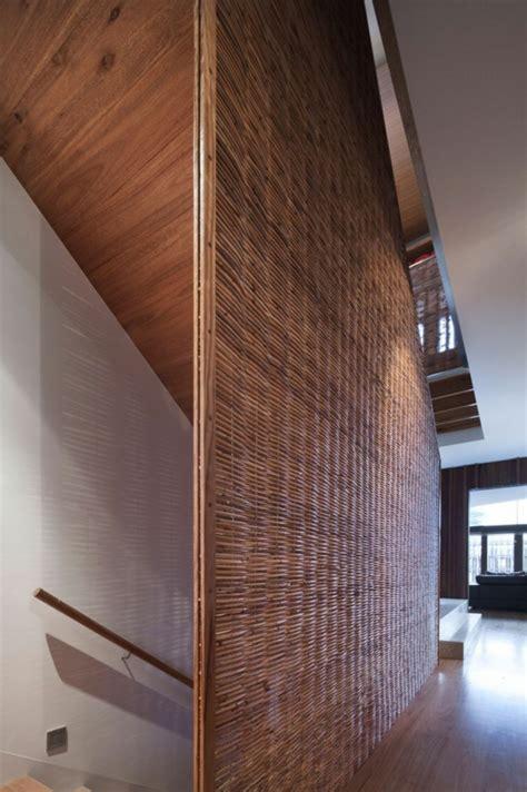 Zwischenwand Aus Holz by Moderne Residenz Mit Innendesign Aus Holz Bietet