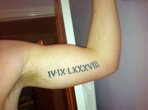 roman numeral tattoo bicep 12 biceps roman numerals tattoos