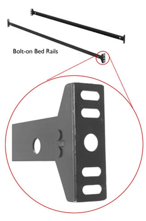 bolt on bed rails full to queen converter rails bed rails thesleepshop com