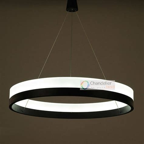 Modern Light Fixtures For Dining Room by Three Sizes Modern Contemporary One Ring Pendant Light