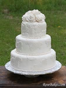 Bridal Cupcakes Vintage Lace Wedding Cake With Sugar Roses