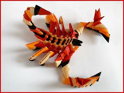 Scorpion Origami - how to make 3d origami scorpion tutorial paper gift