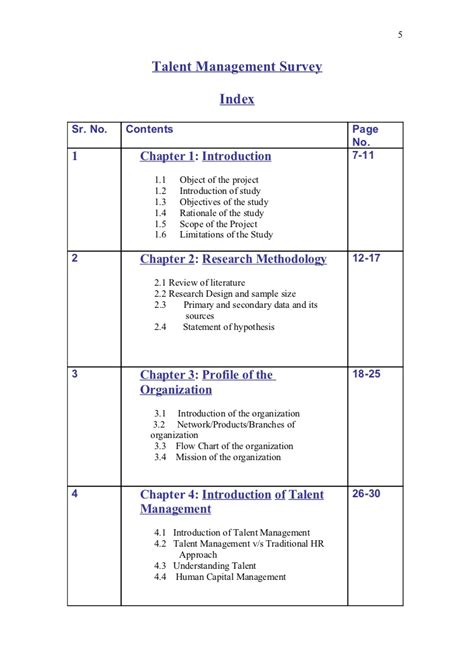 Viva Questions For Mba Hr Project by Introduction Sle For Project Report Project Report And