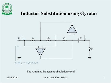 gyrator based inductor gyrator simulated inductor 28 images rc active ladder filters based on simulating inductors