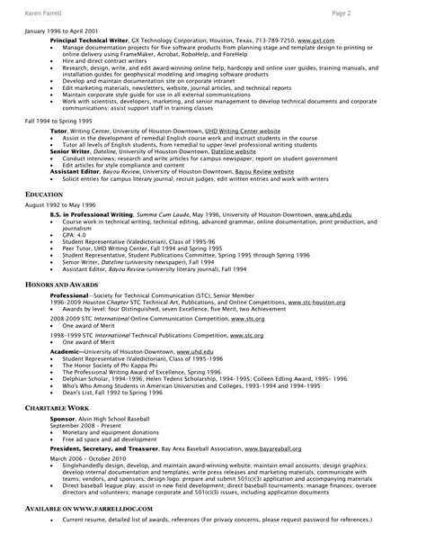 Resume Highlights the resume ims507katyg