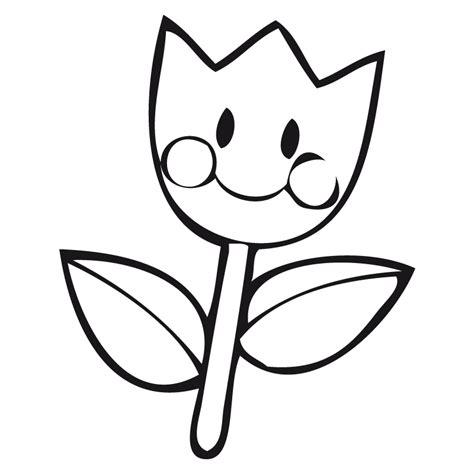 imagenes en blanco para colorear de flores dibujos de flor sonriente para colorear