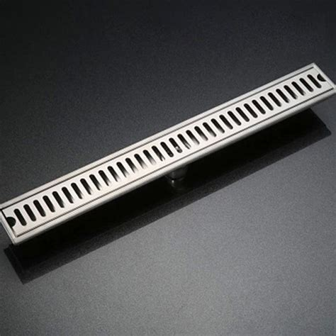bathroom channel drain 304 stainless steel brushed surface linear long shower bathroom floor drain 600mm