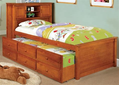 captains bed with bookshelf headboard south land oak platform captain bed with bookcase