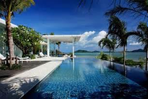 Thailand Infinity Pool Infinity Pool Terrace Sea Views Oceanfront Villa In