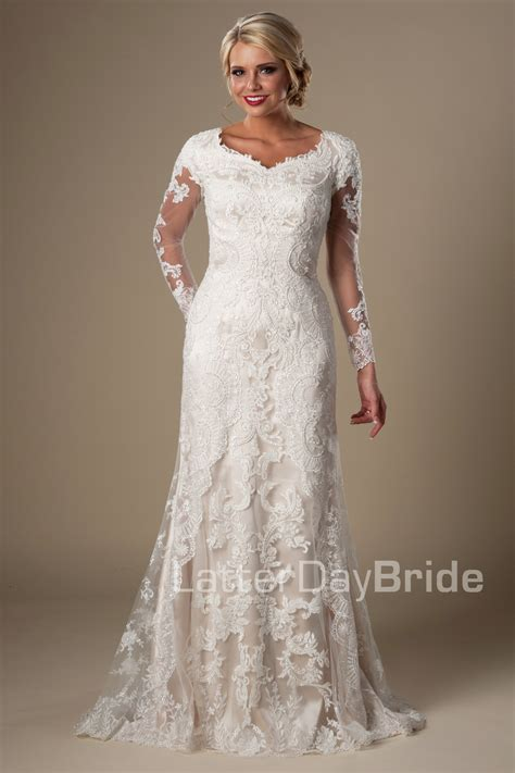Lds Wedding Dress by 25 Modest Wedding Dresses With Sleeves Lds Daily