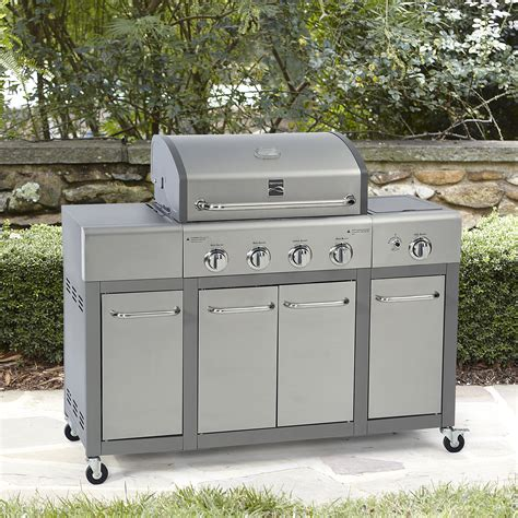 Char Broil Electric Patio Grill Kenmore 4 Burner Stainless Steel Lid Gas Grill With Storage