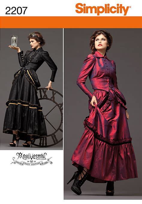a simple s victorian dress from new look pattern a6319 the pragmatic costumer simplicity 2207 misses steunk costume