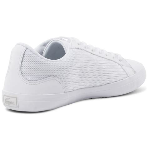 Lacoste Lerond Trainers In White lacoste lerond 116 mens trainers in white