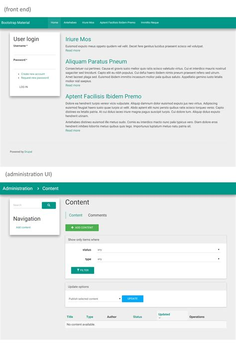 bootstrap material design theme drupal org gt gt 20 great