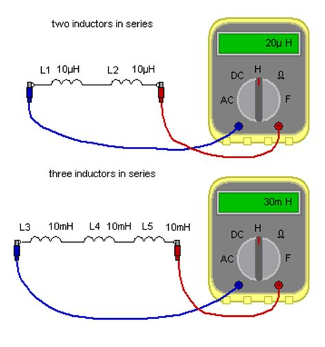 capacitor series inductance matrix electronic circuits and components inductors inductors in series