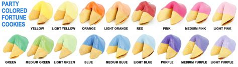 what color is the cookie colored fortune cookies chocolate covered fortune