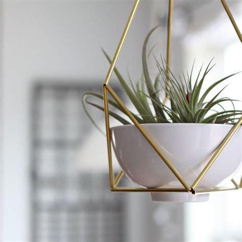 modern hanging planter brass himmeli hanging planter no 2 modern mobile geometric terra