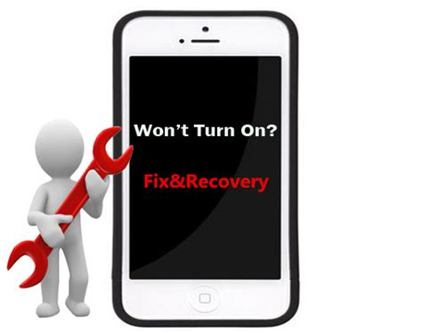 how to recover data from iphone that won t turn on