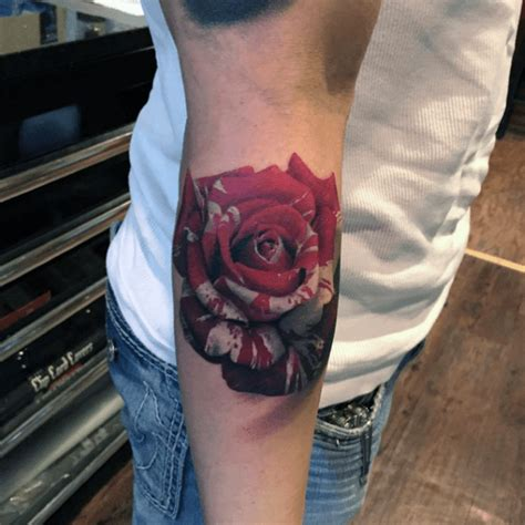 colored tattoos for guys 50 flower tattoos for a bloom of manly design ideas