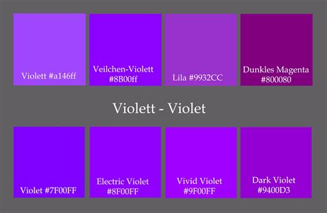 shades of purple purple color names list pictures to pin on pinterest