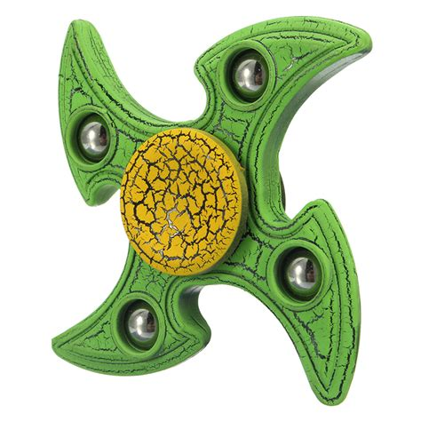 Fidget Spinner Cracked ecubee spinner abs 4 pines spinner fidget
