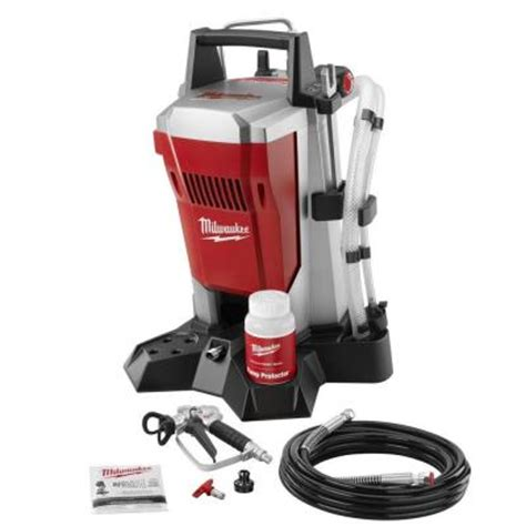 home depot airless paint sprayer reviews milwaukee airless paint sprayer m4910 10 the home depot
